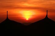 Africa, Ethiopia, Axum, sunset