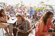 A café (Café Coffee Day) in the suburb Bandra West, Bombay (Mumbai), India