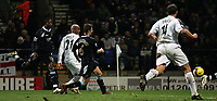 Photo: Paul Thomas.<br /> Bolton Wanderers v West Ham United. The Barclays Premiership. 09/12/2006.<br /> <br /> El Hadji Diouf (2nd L) of Boton scores.