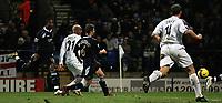 Photo: Paul Thomas.<br /> Bolton Wanderers v West Ham United. The Barclays Premiership. 09/12/2006.<br /> <br /> El Hadji Diouf (2nd L) of Boton scores.