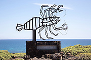 Crab sculpture by Cesar Manrique at Jameos de Aqua, Lanzarote, Canary Islands, Spain