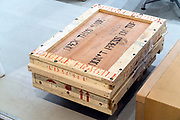 sturdy wooden crate for artwork transport