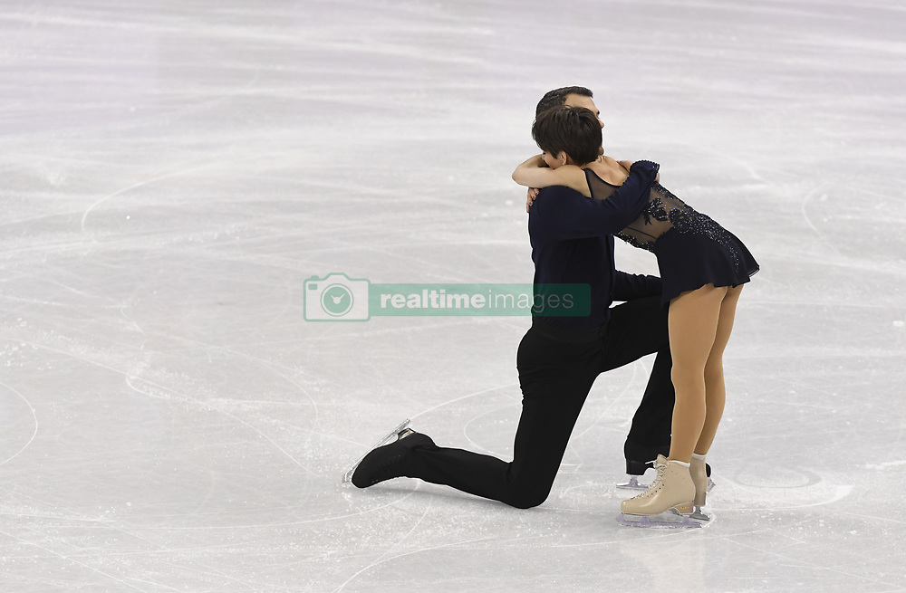 February 8, 2018 - Pyeongchang, South Korea - ERIC RADFORD and MEAGAN DUHAMEL of Canada compete Friday, February 9, 2018, in the Pairs Short Program Team event event on opening day of the Figure Skating Team competition at the Winter Olympic Games in at the Gangneung Ice Arena in Pyeongchang, S. Korea. Photo by Mark Reis, ZUMA Press/The Gazette (Credit Image: © Mark Reis via ZUMA Wire)