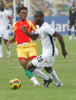 Photo: Steve Bond/Richard Lane Photography.<br />Ghana v Guinea. Africa Cup of Nations. 20/01/2008. Quincy Owusu-Abiyie (R) comes away with the ball