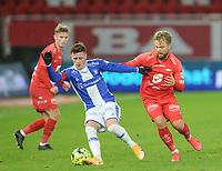 Fotball, 6. desember 2020, Eliteserien, Brann-Sarpsborg - Sander Svendsen<br /> Tobias Heintz , S08