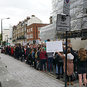 London, England, UK. 30th September 2017.  Hundreds of Pro-abortion campaigners hold a protest to demand abortion rights in Ireland outside Embassy of Ireland.