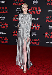 Gwendoline Christie attends the world premiere of Disney Pictures and Lucasfilm's 'Star Wars: The Last Jedi' at The Shrine Auditorium on December 9, 2017 in Los Angeles, CA, USA. Photo by Lionel Hahn/ABACAPRESS.COM