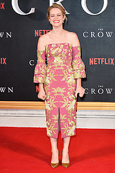 © Licensed to London News Pictures. 01/12/2016. CLAIRE FOY attends the TV premiere of the new Netflix series The Crown about the reign of Queen Elizabeth II. London, UK. Photo credit: Ray Tang/LNP