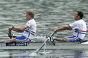 Hazewinkel. Belgium. Senior Trails. Rick DUNN and Toby GARBETT,<br /> 13/04/2004  - 2004 GBR Rowing Trail -Hazenwinkel Belgium   [Mandatory Credit:peter SPURRIER/Intersport Images]