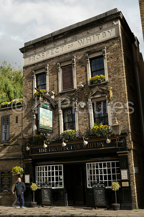 Prospect of Whitby Pub in Wapping on 24th May 2021 in London, United Kingdom. The Prospect Of Whitby is Londons oldest riverside pub dating back to 1520, and has an illustrious history.