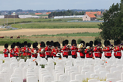 July 31, 2017 - Ypres, Belgium - Image licensed to i-Images Picture Agency. 31/07/2017. Ypres, Belgium. The Prince of Wales accompanied by The Duke and Duchess of Cambridge and the King and Queen of the Belguims at a ceremony at the Tyne Cot Commonwealth War Graves Cemetery, near Ypres, Belgium, to commemorate the 100th ..anniversary of Passchendaele-The Third Battle of Ypres.  Picture by Stephen Lock / i-Images (Credit Image: © Stephen Lock/i-Images via ZUMA Press)