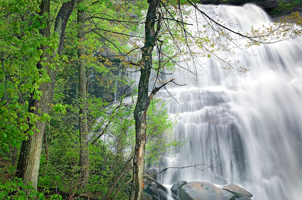 Rainbow Falls in springtime, North Carolina, USA