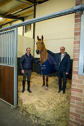 Govaerts Dirk, Cox Karel, (BEL), Cor Van De Wateringhoeve<br /> Karel Cox Stables - Hechtel Eksel 2016<br /> © Hippo Foto - Dirk Caremans<br /> 27/01/16