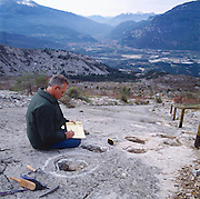 """An eighth-century landslide in the Alps above Trento, Italy, inspired Dante's metaphorical stairway to hell in the """"Inferno"""" and later revealed dinosaur tracks, like those studied by Giuseppe Leonardi of Venice."""