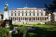 Palace of St Michael and St George, Museum of Asian Art, statue Sir Frederick Adam, British High Commissioner, Kerkyra, Corfu Town, Greece