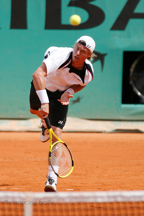 Roland Garros. Paris, France. May 31st 2007..Lleyton HEWITT against Gaston GAUDIO.