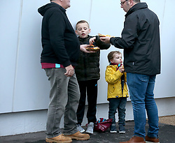 West Ham United fans enjoy a bite to eat before the game