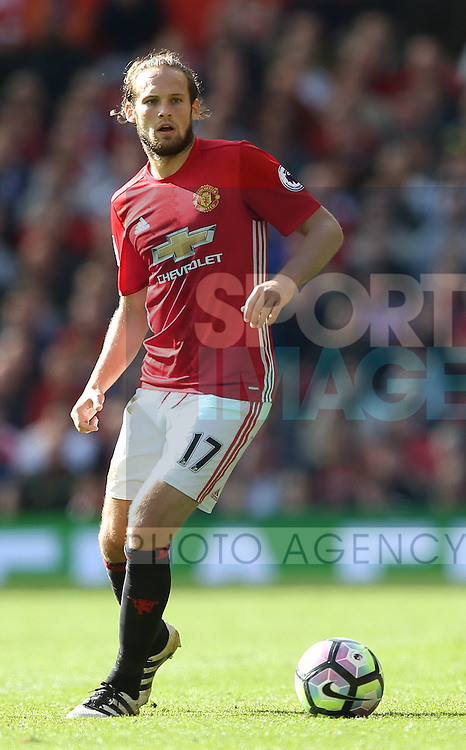 Daley Blind of Manchester United during the Premier League match at Old Trafford Stadium, Manchester. Picture date: October 2nd, 2016. Pic Simon Bellis/Sportimage