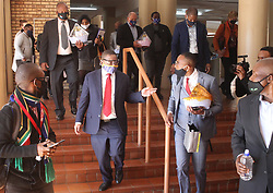 South Africa - Pretoria - 9 June 2020 - Minister of Higher Education Dr Blade Nzimande visits the Tshwane University of Technology Ga-Rankuwa campus to assess its state of readiness for the phased return of students to the university.<br /> Picture: Jacques Naude/African News Agency(ANA)