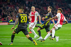 10-04-2019 NED: Champions League AFC Ajax - Juventus,  Amsterdam<br /> Round of 8, 1st leg / Ajax plays the first match 1-1 against Juventus during the UEFA Champions League first leg quarter-final football match / David Neres #7 of Ajax scores 1-1 in the first minute second half.