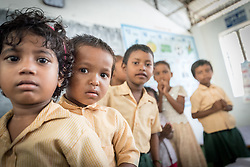 16 September 2018, Sohal Tole, Jahada rural municipality, Nepal: The government-run Adarbhut School in Sohal Tole hosts a total of 143 children from the nearby community. Sohal Tole is a community inhabited by Santal and Dalit (Musahar) people, who find themselves as the very margin of society in Nepal. The 54 households are supported by the Nepal Evangelical Lutheran Church, as they mobilize together on disaster preparedness, income generating activities, financial governance, and mobilization on sanitation, education and entrepreneurship. The community project also receives technical support from the Lutheran World Federation World Service programme.