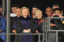 Former Secretary of State Hillary Rodham Clinton and Choreographer Bill T. Jones after receiving their Honorary Degrees from Yale University   Commencement 2009. Credit Photography: James R Anderson