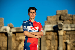 Ziga Horvat during photo session of KK Adria Mobil before new cycling season, on January 17, 2019 in Side, Turkey. Photo by Vid Ponikvar / Sportida