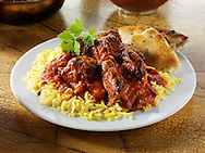 Chicken Tikka Masala curry & rice, Indian food recipe  pictures, photos & images