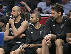 San Antonio Spurs and the Los Angeles Clippers 4 April 2018