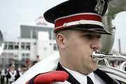 COLUMBUS, OH - November 18:  2006 The Ohio State University Marching Band line up for uniform inspection before The Ohio State Buckeyes play The Michigan Wolverines. Credit: Bryan Rinnert