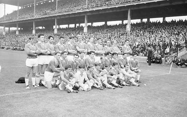 Meath team before the All Ireland Senior Football Championship Final Galway v Meath in Croke Park on the 25th September 1966. Galway 1-10 Meath 0-7.