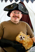 Pirate and pomeranian at the 23rd annual Merrie Greenwood Renaissance Faire.