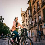 Bicycle ride in the streets of Granada