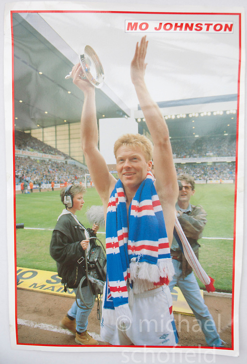 Mo Johnston. Pictures and pages from the time at Rangers News 1989 to 1993..©Michael Schofield.