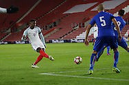 England's Demarai Gray scoring his sides opening goal during the Under 21 International Friendly match at the St Mary's Stadium, Southampton. Picture date November 10th, 2016 Pic David Klein/Sportimage
