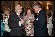 NORMAN LAMONT; MRS. ROBERT WALEY COHEN, Cartier dinner in celebration of the Chelsea Flower Show. The Palm Court at the Hurlingham Club, London. 19 May 2014.