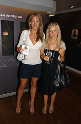EMILY CROMPTON and HANNAH SANDLING at the opening reception of 'Bejewelled by Tiffany 1837-1987' at The Gilbert Collection, Somerset House, London on 21st June 2006.