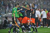 FOOTBALL - FRENCH CHAMPIONSHIP 2011/2012 - L1 - MONTPELLIER HERAULT SC v AJ AUXERRE - 06/08/2011 - PHOTO SYLVAIN THOMAS / DPPI - JOY MONTPELLIER PLAYERS