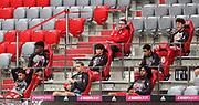 Auswechselbank FC Bayern Muenchen , FCB Torwart , Torhüter , Goalkeeper , Manuel Neuer ,  During the Bayern Munich vs SC Freiburg Bundesliga match  at Allianz Arena, Munich, Germany on 20 June 2020.