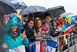 PARIS, Sept. 14, 2017  People gather to celebrate the winning of the host city of the 2024 Olympic Games at the Trocadero Square in Paris, France, on Sept. 13, 2017. International Olympic Committee President Thomas Bach announced on Wednesday in Lima, Peru, that Paris will host the 2024 Olympic Games. (Credit Image: © Chen Yichen/Xinhua via ZUMA Wire)