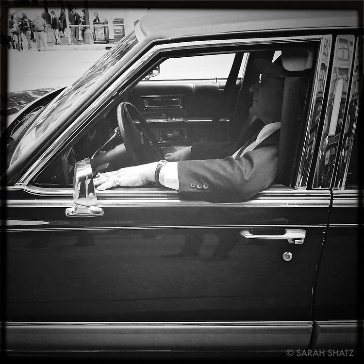 Man in Cadillac
