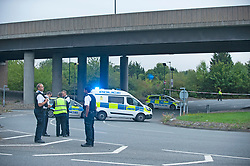 ©Licensed to London News Pictures 07/09/2020  Sidcup, UK. A man has fallen from the A20 Sidcup bypass bridge in South East London onto the road below which is Crittalls corner roundabout. Police are on scene. Photo credit: Grant Falvey/LNP