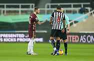 Leeds United defender Liam Cooper (6) at the toss during the Premier League match between Newcastle United and Leeds United at St. James's Park, Newcastle, England on 26 January 2021.