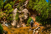 Hiking to Kanarra Creek Falls, near Cedar City, Utah USA
