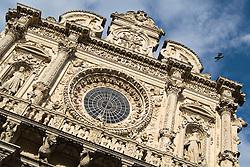 Città di Lecce in Puglia - Italia .Particolare Basilica di Santa Croce