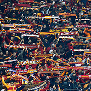 Galatasaray's supporters during their UEFA Champions League Round of 16 First leg soccer match Galatasaray between Chelsea at the AliSamiYen Spor Kompleksi in Istanbul, Turkey on Wednesday 26 February 2014. Photo by Aykut AKICI/TURKPIX