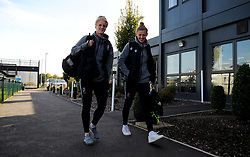 Bristol City Women arrive prior to kick-off - Mandatory by-line: Nizaam Jones/JMP - 27/10/2019 - FOOTBALL - Stoke Gifford Stadium - Bristol, England - Bristol City Women v Tottenham Hotspur Women - Barclays FA Women's Super League