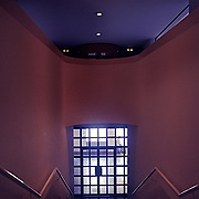 Stuttgart, Germany, Baden - Württemberg 1987: Interior detail of the Neue Staatsgalerie, by James Stirling and Michael Wilford Architects. Photography by Alejandro Sala| Visit SHOP Images to purchase a digital file,  explore other Alejandro Sala images. |  AS • Atelier• Architecture + Photography