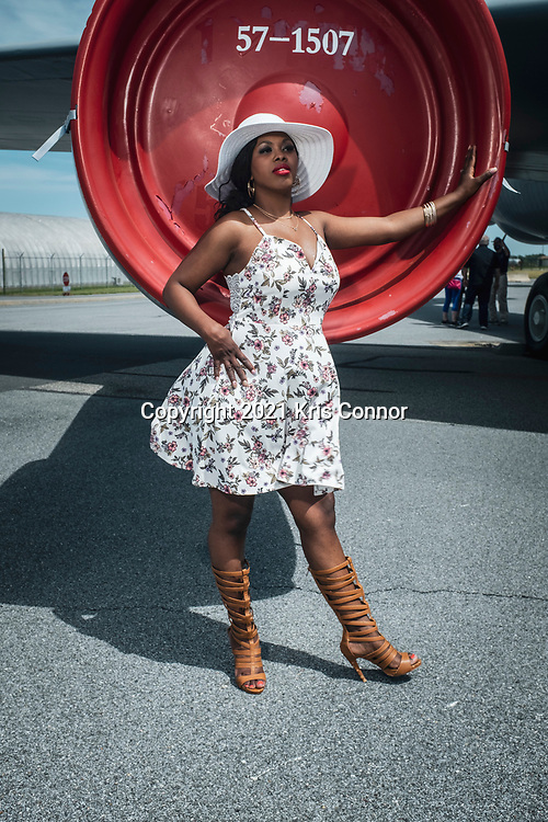 Singer Songwriter Aya Marie poses during a portrait session at the Air Mobility Command Museum in Dover, Deleware on May 16th, 2021. Photo by Kris Connor