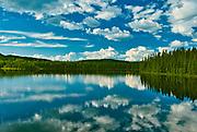 Cloud reflection on la Rivière Saint-Maurice (Saint-Maurice River)<br />Grande-Anse<br />Quebec<br />Canada
